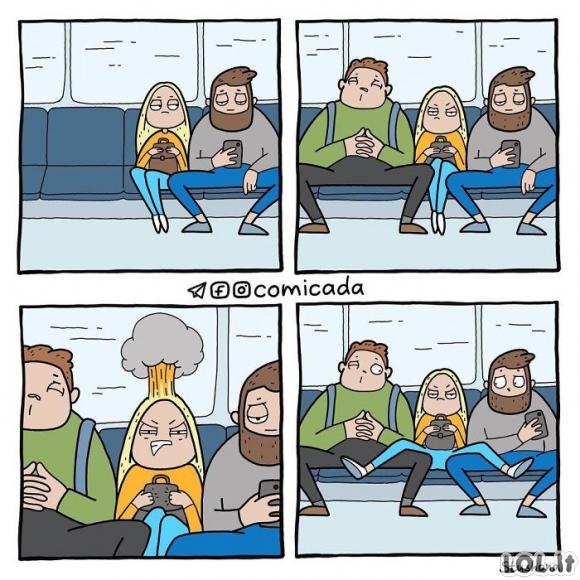 Jeigu merginos sėdėtų taip, kaip vaikinai