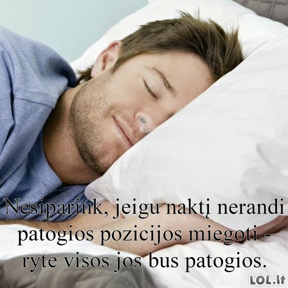 Miego pozicijos