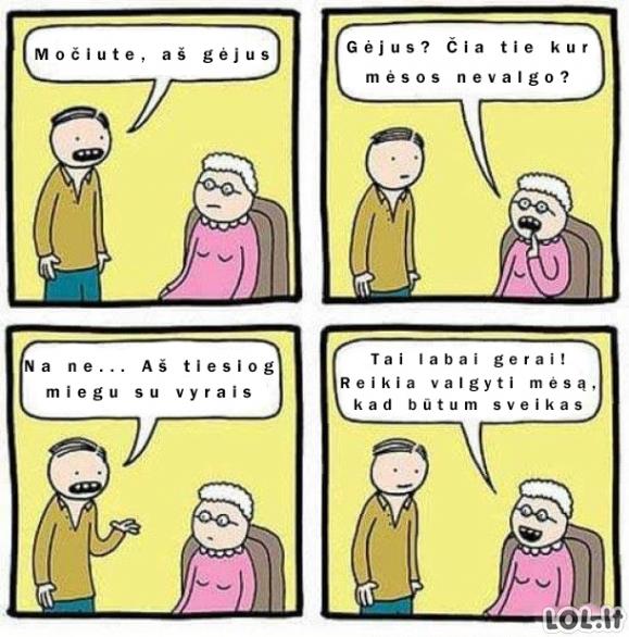 Močiutė žino, kas tikrai kenkia