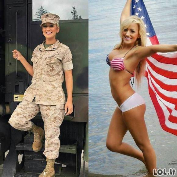 Ne visos uniformuotos merginos nešioja tik uniformą [GALERIJA]