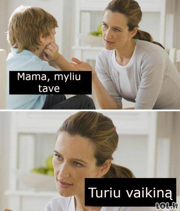Mama turi vaikiną