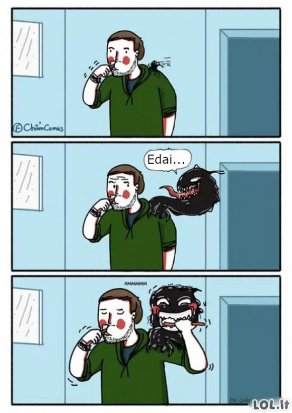 Venomo rytas prasideda taip
