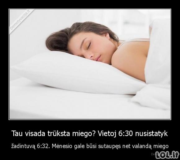 Kaip sutaupyti valandą miego mėnesio gale