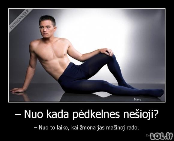 Kada vyrai nešioja pėdkelnes?