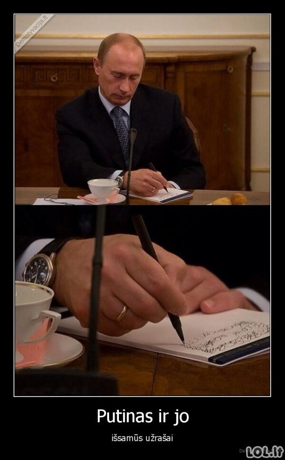Išsamūs Putino užrašai