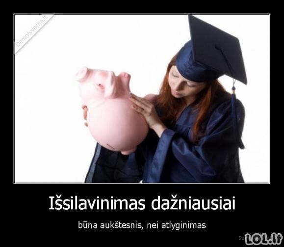 Išsilavinimas ir atlyginimas