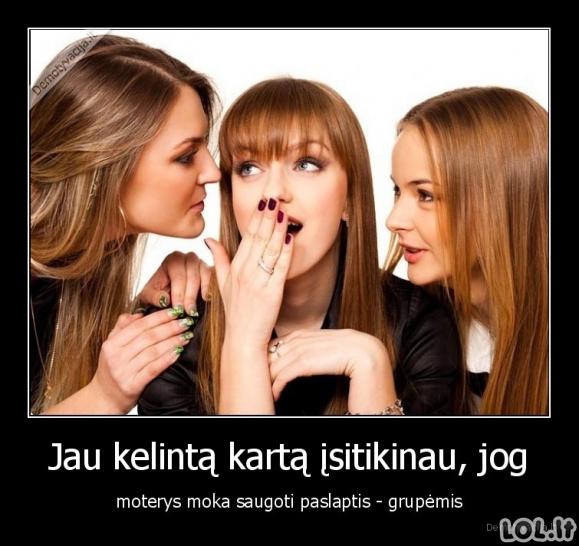 Merginos ir paslapčių saugojimas