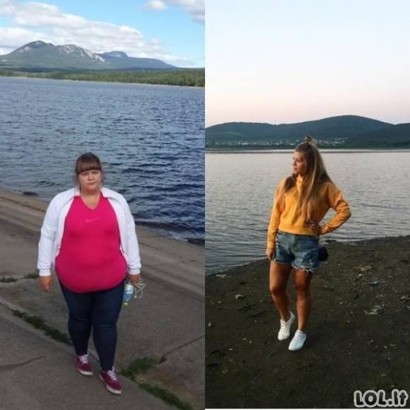 Neįtikėtini pokyčiai, kai žmonės atsikratė antsvorio (71 nuotrauka)