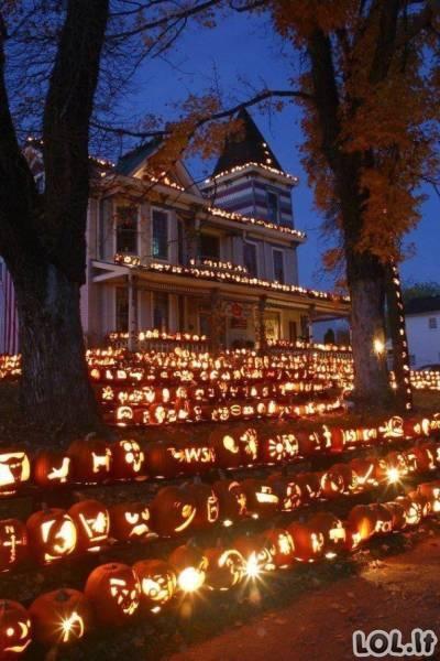 Žmonės, kurie gyvena Helovinu ir jų dekoracijos tiesiog neįtikėtinos (40 foto)