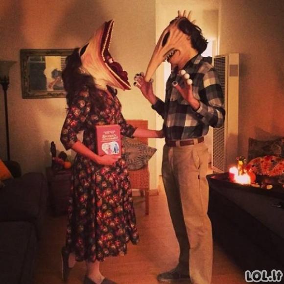 Poros vilki šaunius Helovino kostiumus (40 foto)