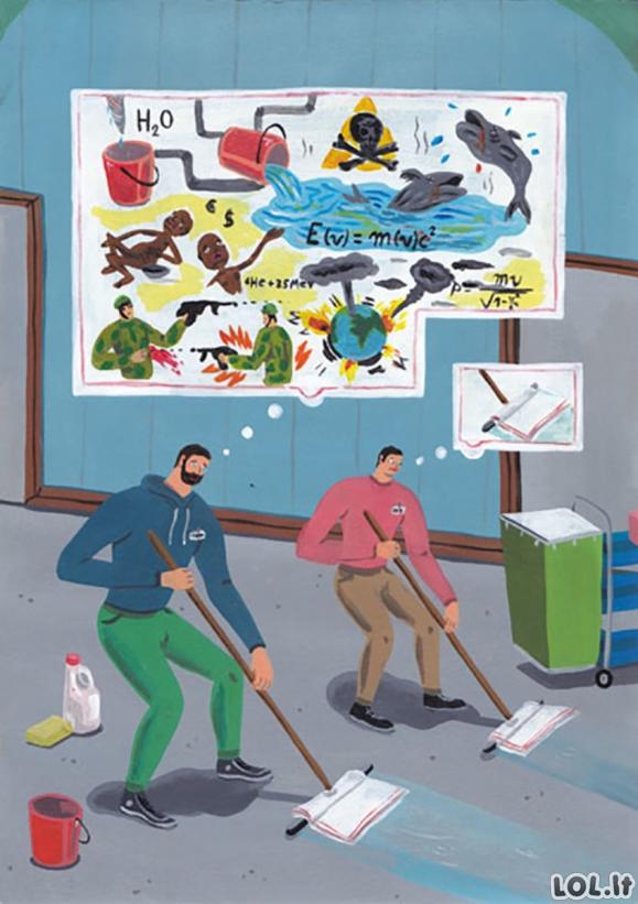 Karikatūros, priverčiančios susimąstyti apie šių dienų visuomenę