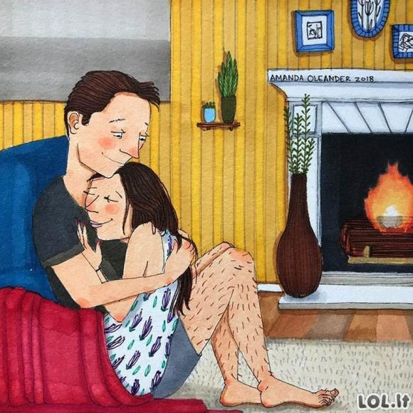 Iliustracijos, atskleidžiančios tikrąją ilgalaikių santykių pusę