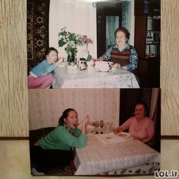 Žavios nuotraukos, atkurtos iš vaikystės