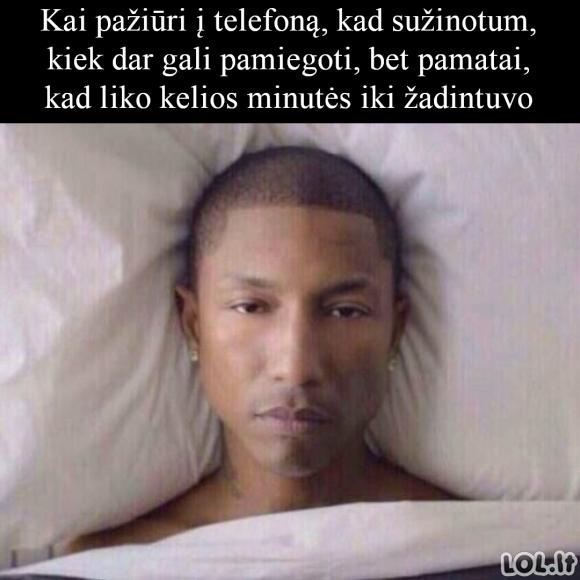 Miego minutės suskaičiuotos