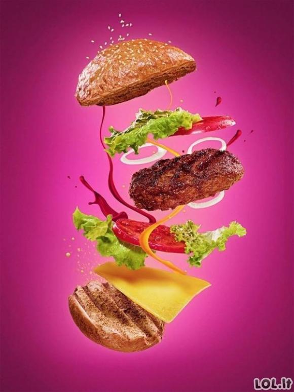 Kaip fotografuojamos burgerių reklamos