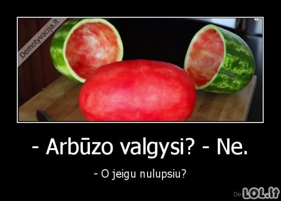 Nuluptas arbūzas