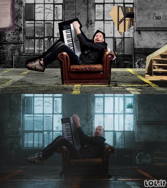 Fotošopo meistras demonstruoja savo sugebėjimus (72 foto)