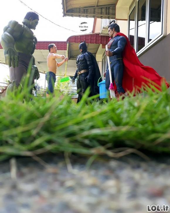 Kietos nuotraukos su superherojais (36 foto)
