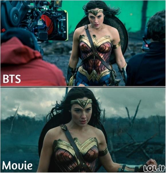 Holivudo filmų užkulisiai (40 nuotraukų)