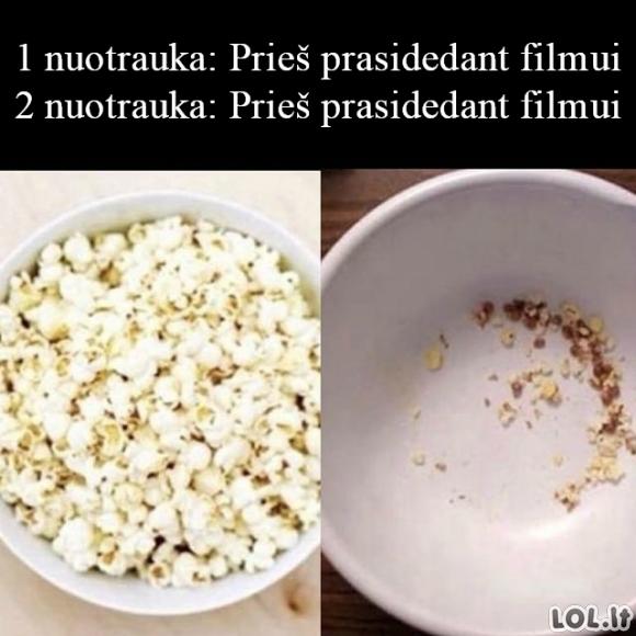 Popkornai filmui