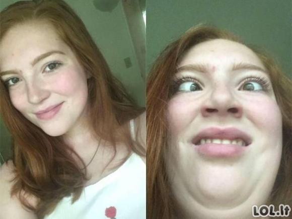 Mielos merginos parodo savo baisiuosius veidus [GALERIJA]