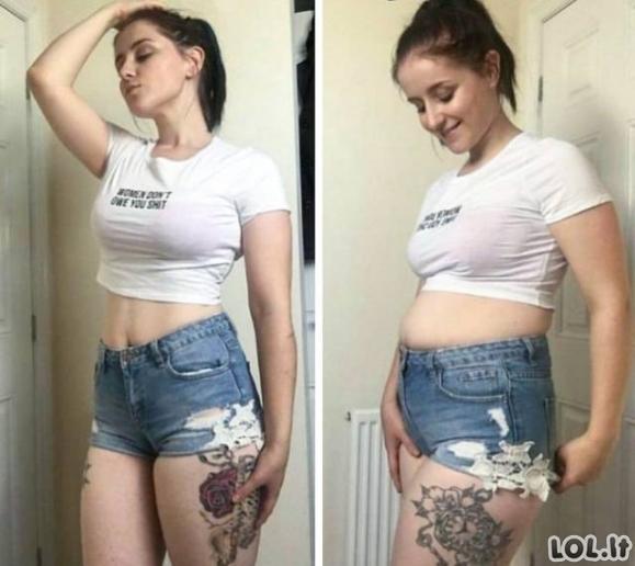 Merginos atskleidžia tiesą apie tobulas nuotraukas instagrame (23 nuotraukos)