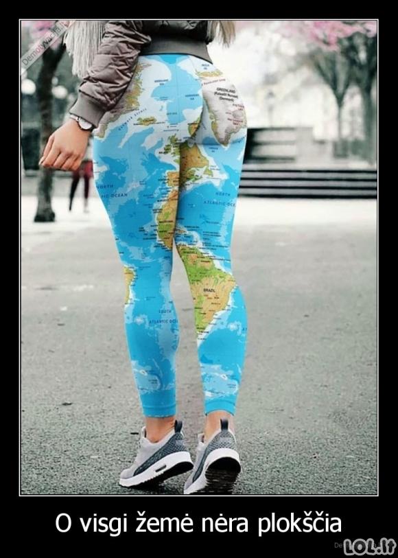 Žemė tikrai nėra plokščia