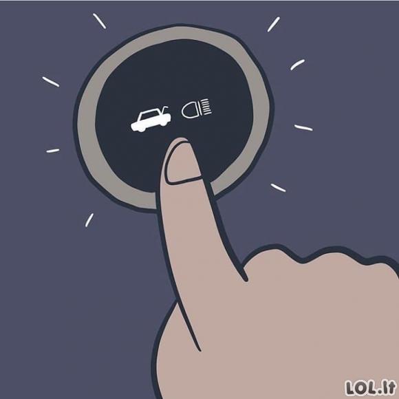 Kai važiuojantis tau iš galo šviečia ilgosiomis