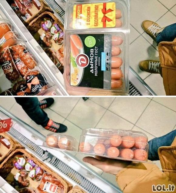 Apgaulės, kurios naudojamos parduotuvėse
