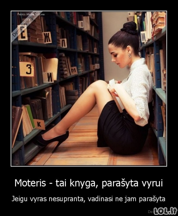 Moteris - knyga