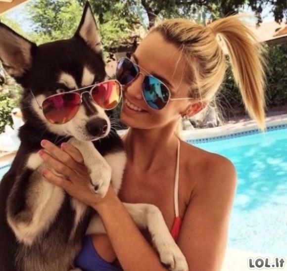 Gyvūnai - geriausi merginų draugai [GALERIJA]