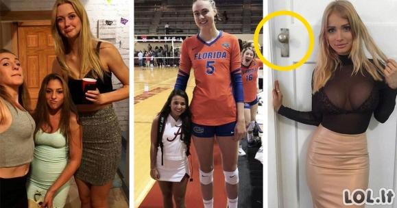 Merginos, kurios gali nustebinti kiekvieną savo ūgiu