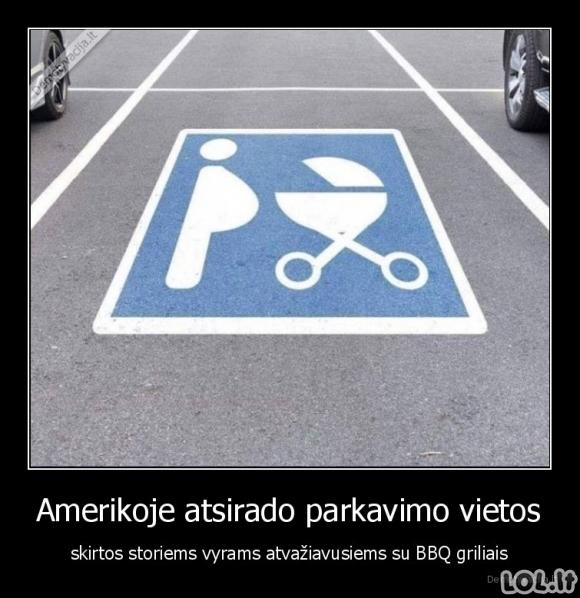 Naujo žymėjimo parkavimosi vietos Amerikoje