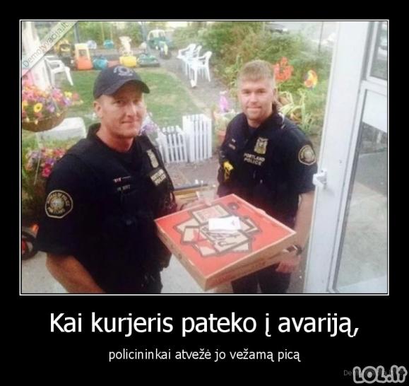 Policininkai, pagalvojantys apie praalkusius