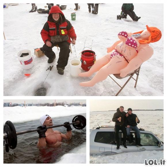 Skirtingos vyrų žiemos linksmybės