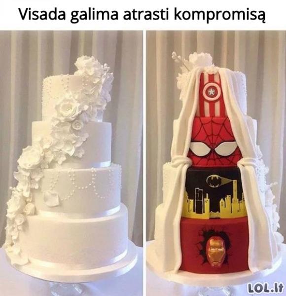 Kompromisas vestuviniame torte