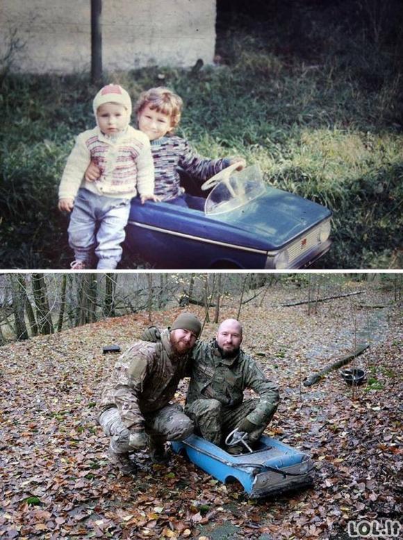 Genialios nuotraukos, kurios gavosi atkūrus vaikystės akimirkas
