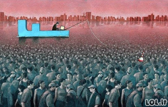 Absurdiškos iliustracijos, atskleidžiančios mūsų kasdienybę [GALERIJA]