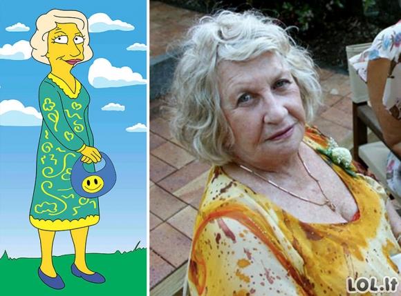 Simpsonų veikėjai realiame gyvenime [GALERIJA]