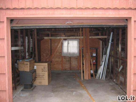 Mažai naudojamą garažą moteris pavertė jaukiu namuku [GALERIJA]