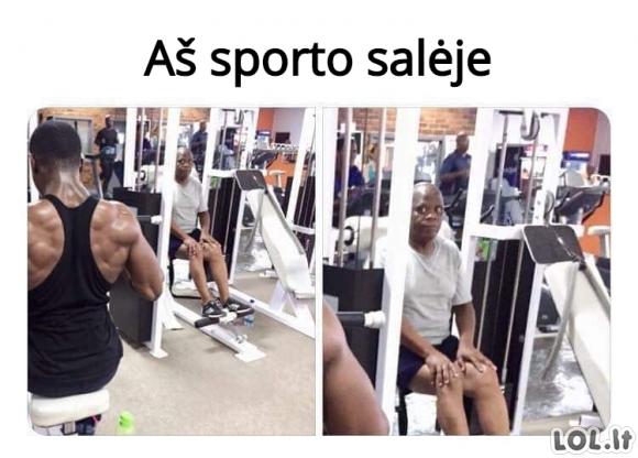 Sporto salėje