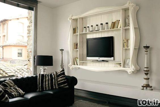 Modernūs televizoriaus įmontavimo pavyzdžiai [GALERIJA]