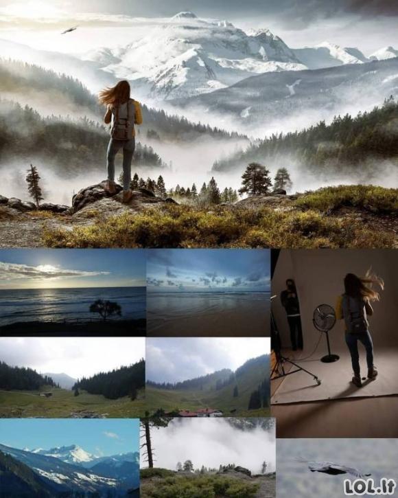 Kaip fotošopo pagalba padaromos nerealios nuotraukos