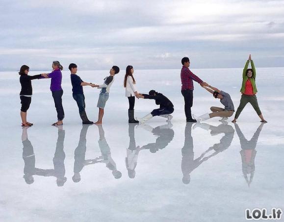 Žmonės, kurie pasidarė itin kūrybingas nuotraukas iš savo atostogų [GALERIJA]