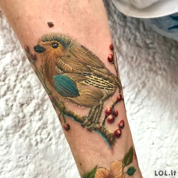 Tatuiruotės, kurios atrodo kaip išsiuvinėtos [GALERIJA]