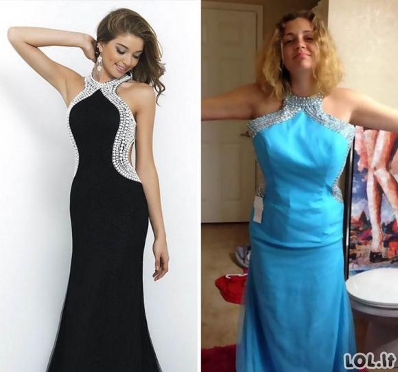 Moterys pirko prašmatniai atrodančias sukneles pigiau internetu, tačiau vėliau pasigailėjo [GALERIJA]