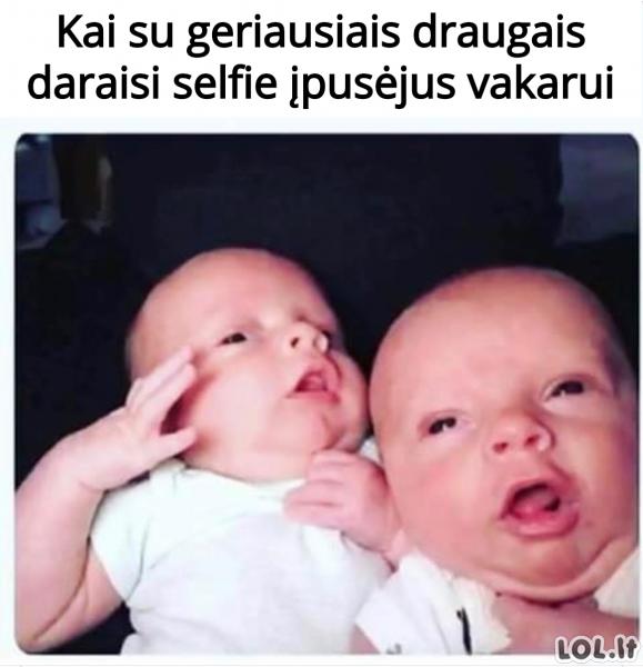 Selfie su draugais