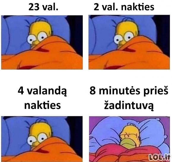 Kai negali užmigti