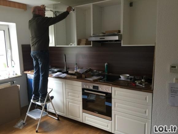 Šeima nepriekaištingai pakeitė savo virtuvę vos per vieną dieną [GALERIJA]
