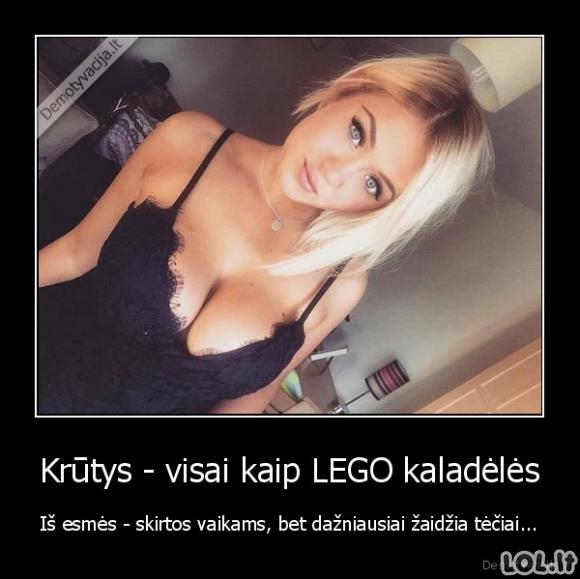 Krūtys - kaip LEGO kaladėlės